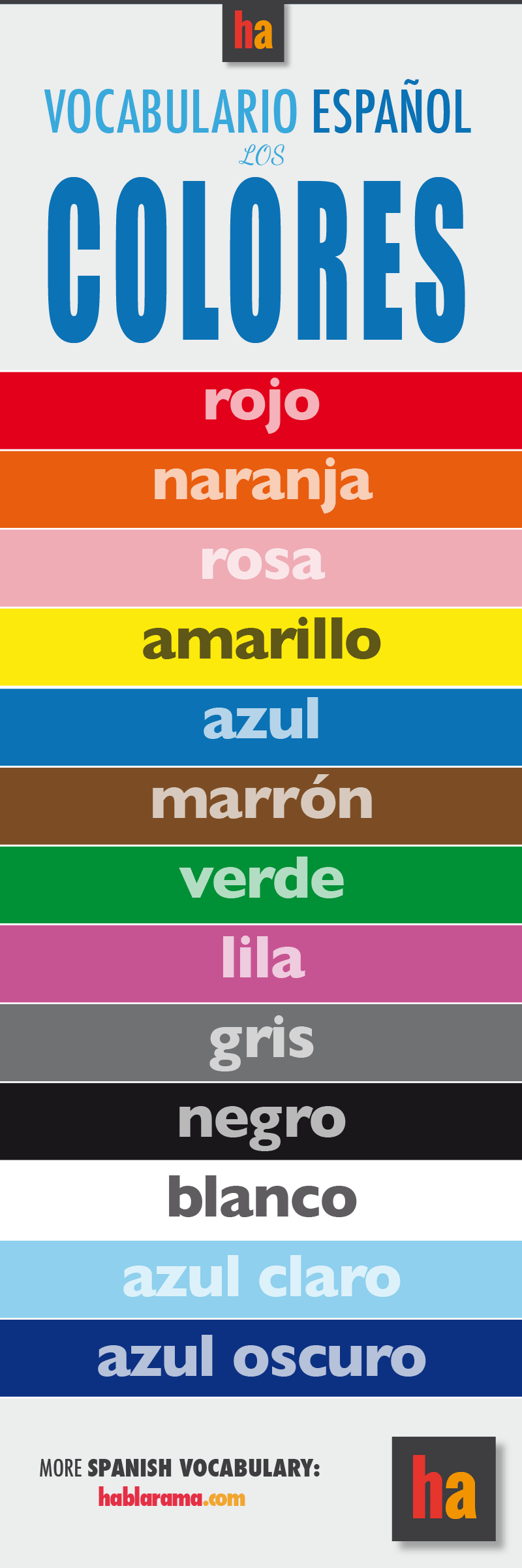 The Colorscolours In Spanish